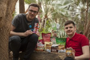 Paul and James with some of their healthy snacks